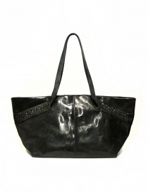 Delle Cose leather bag with lateral inserts online