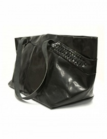 Delle Cose leather bag with lateral inserts