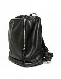 Delle Cose model 76 black leather backpack