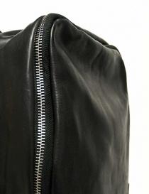 Zaino Delle Cose modello 76 in pelle nera prezzo