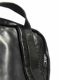 Delle Cose model 76 black leather backpack bags buy online