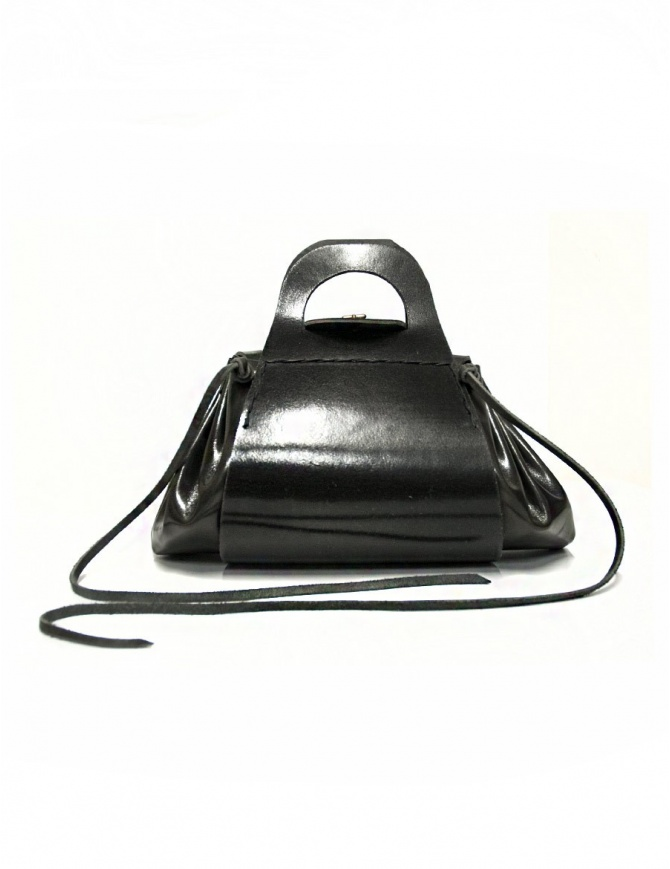 Delle Cose style 700 black leather bag 700 GROPPONE BLK bags online shopping