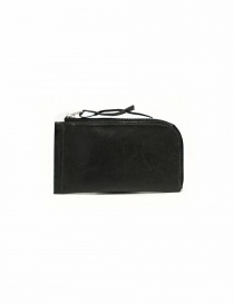 Delle Cose black leather zipped wallet 160-HORSE-26 order online