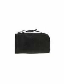 Portafoglio Delle Cose in pelle nera con zip online