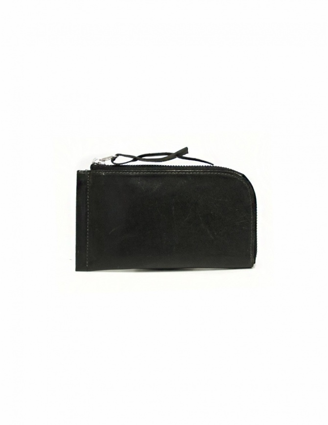 Delle Cose black leather zipped wallet 160-HORSE-26 wallets online shopping