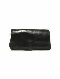 Delle Cose style 81 black leather wallet 81 HORSE POLISH ASFALTO