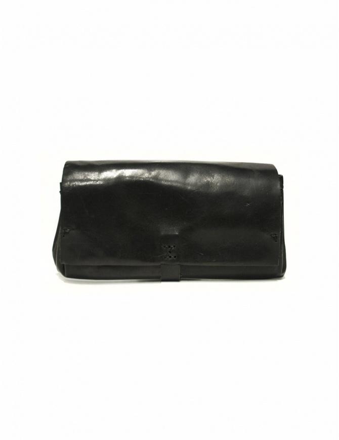 Portafoglio Delle Cose modello 81 in pelle nera 81 HORSE POLISH ASFALTO portafogli online shopping