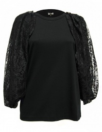 Miyao black color sleeveless sweater MM-B-07-BLK-TEE order online
