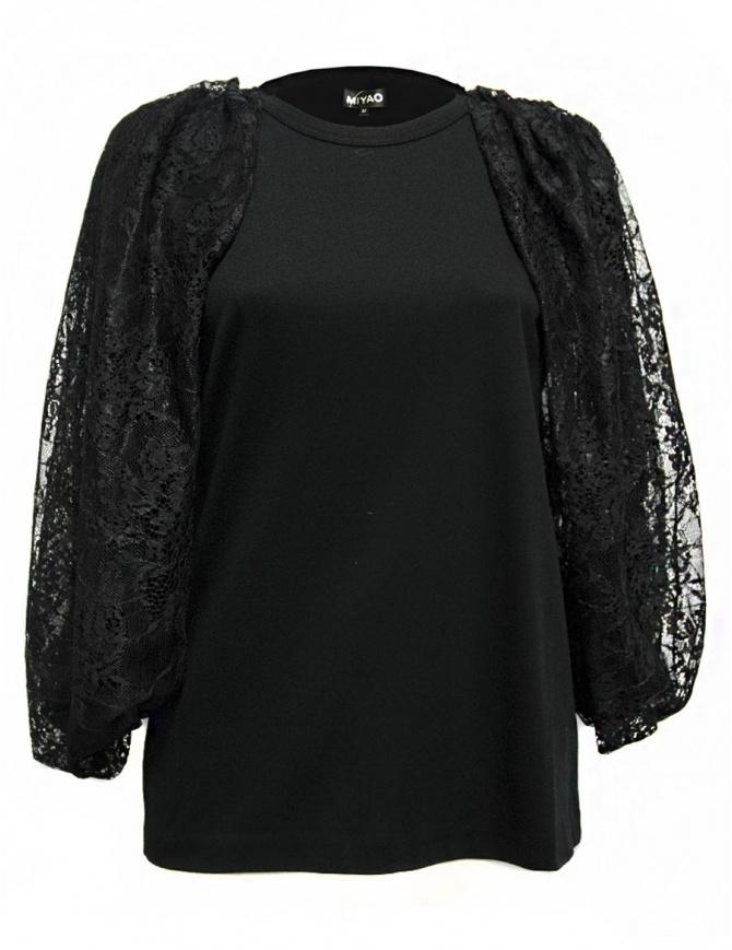 Maglia Miyao senza maniche colore nero MM-B-07-BLK-TEE maglieria donna online shopping