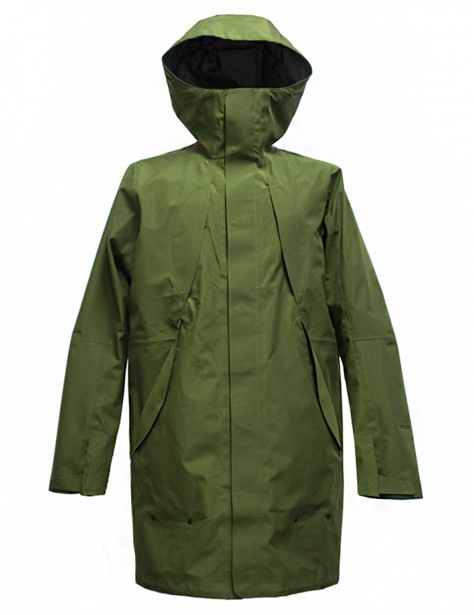 Giacca Goldwin Hooded Spur Coat colore verde GO01700-GREEN giubbini uomo online shopping