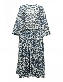 Sara Lanzi blue speckled long dress 01GC004018P-ANIMBLU