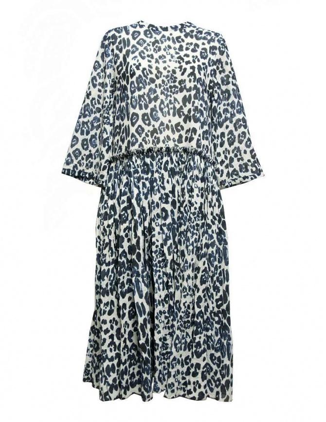 Abito lungo Sara Lanzi maculato bianco blu 01GCO04018P ANIMBLU abiti donna online shopping