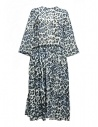 Sara Lanzi blue white speckled long dress buy online 01GCO04018P ANIMBLU
