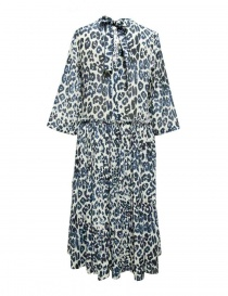 Sara Lanzi blue white speckled long dress