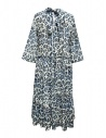 Sara Lanzi blue white speckled long dress shop online womens dresses