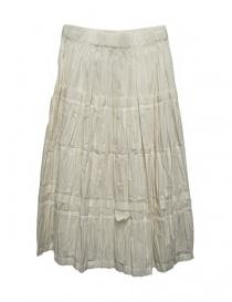 Womens skirts online: Sara Lanzi ivory white skirt