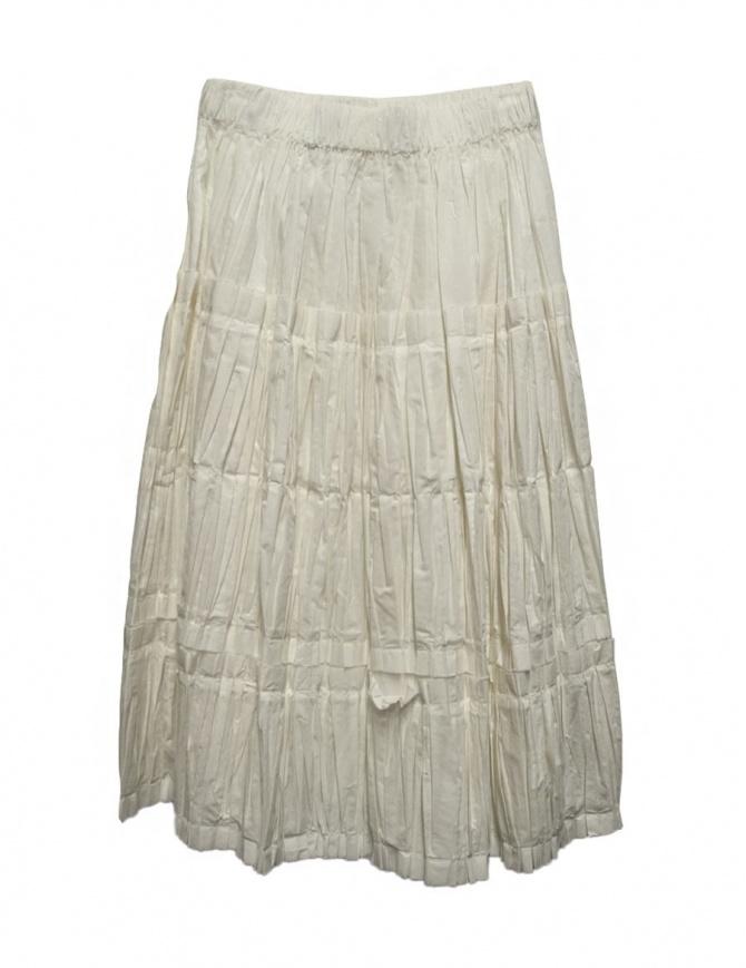 Sara Lanzi ivory white skirt 02FCO0301-WHI womens skirts online shopping