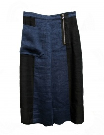 Pantaloni donna online: Gonna pantalone Rito colore navy