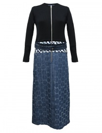 Hiromi Tsuyoshi blue denim and knit dress RS17-005-KNITDRESS-N