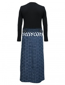 Hiromi Tsuyoshi blue denim and knit dress buy online