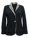 Hiromi Tsuyoshi navy suit with checkered details buy online PS-02-JACKET-NAVY