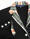 Hiromi Tsuyoshi navy suit with checkered details PS-02-JACKET-NAVY price