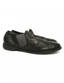 Mens shoes online: Guidi 109 black kangaroo leather shoes