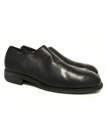 Mens shoes online: Guidi 990E black leather shoes