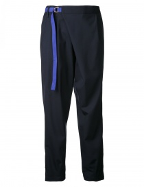 Womens trousers online: Kolor navy trousers with belt