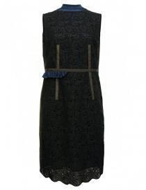 Abito Kolor ricamato nero marrone blu 17SCL 001136 DRESS BLK