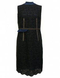 Womens dresses online: Kolor navy and brown dress