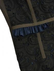 Kolor black blue brown embroidered dress price