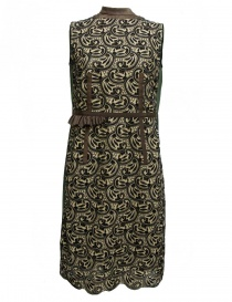 Womens dresses online: Kolor green and brown dress