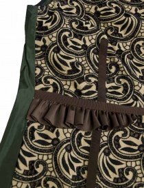 Kolor brown green cream patterned dress price