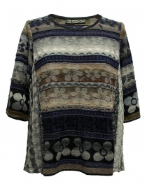 M.&Kyoko mixed silk pullover KAGH501W-PULLOVER order online