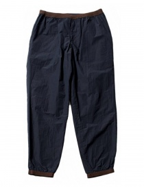 Mens trousers online: Kolor navy trousers with brown details