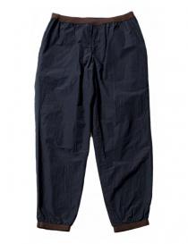 Pantalone Kolor colore navy con dettagli marroni 17SCMP17108-PANT-DAR