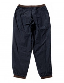Kolor navy trousers with brown details buy online