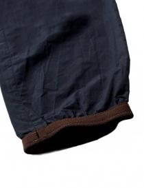 Pantalone Kolor colore navy con dettagli marroni prezzo