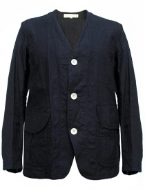 Mens suit jackets online: Haversack linen navy jacket