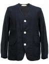Giacca in lino Haversack colore navy acquista online 871727A-59-JACKET