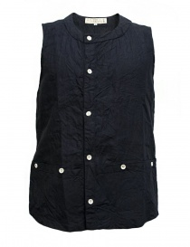 Mens vests online: Haversack linen navy vest