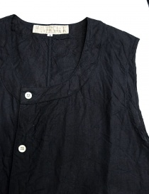 Haversack linen navy vest price