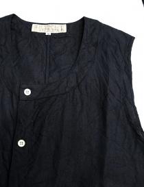 Haversack linen navy vest price