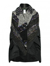 Womens vests online: M.&Kyoko mixed silk and paper vest