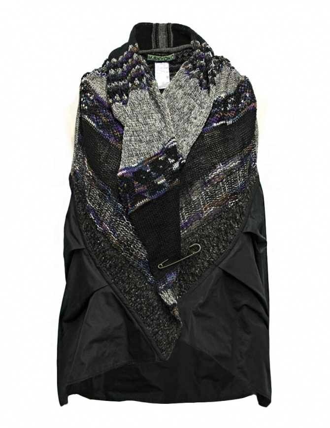 M.&Kyoko mixed silk and paper vest
