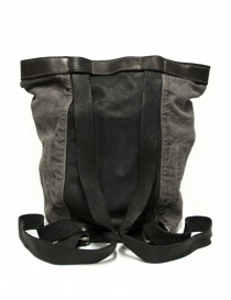 Guidi NBP01 leather and linen backpack buy online