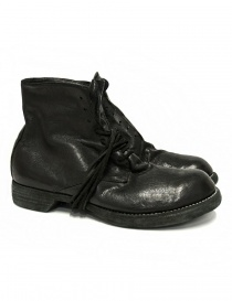 Mens shoes online: Guidi 5305N black leather ankle boots