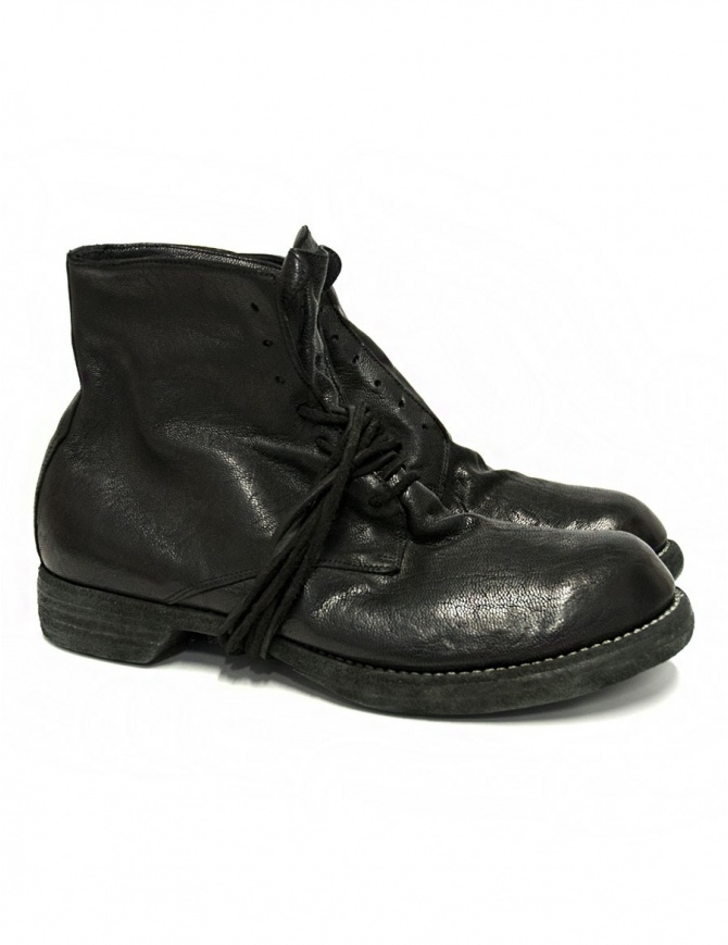 Guidi 5305N black leather ankle boots 5305N-GOAT-FG-BL