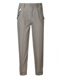 Womens trousers online: Kolor navy cigarette trousers